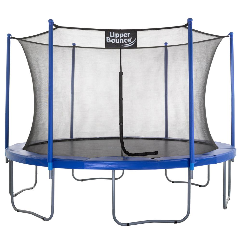 Upper Bounce 14 Ft Trampoline Enclosure Net: Upper Bounce 12 Ft. Trampoline And Enclosure Set Equipped