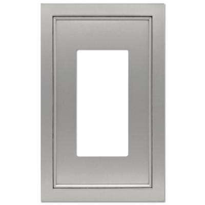 Averly 1 Gang Rocker Metal Wall Plate - Satin Nickel