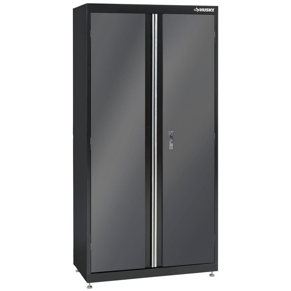 Husky 72 in. H x 36 in. W x 18 in. D 4 Shelf Steel Cabinet with 2 ...