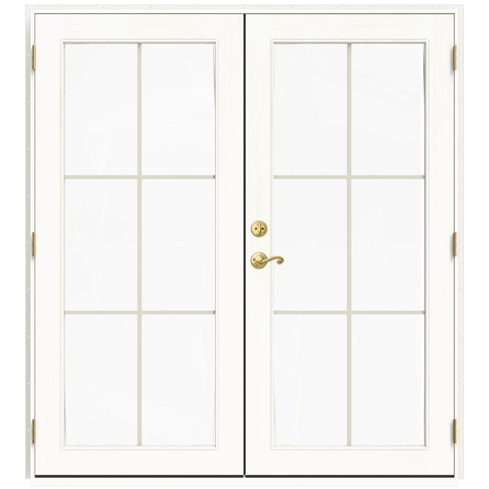 72 in. x 80 in. W-2500 White Clad Wood Left-Hand 6