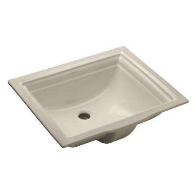 Memoirs Vitreous China Undermount Bathroom Sink in Biscuit with Overflow Drain