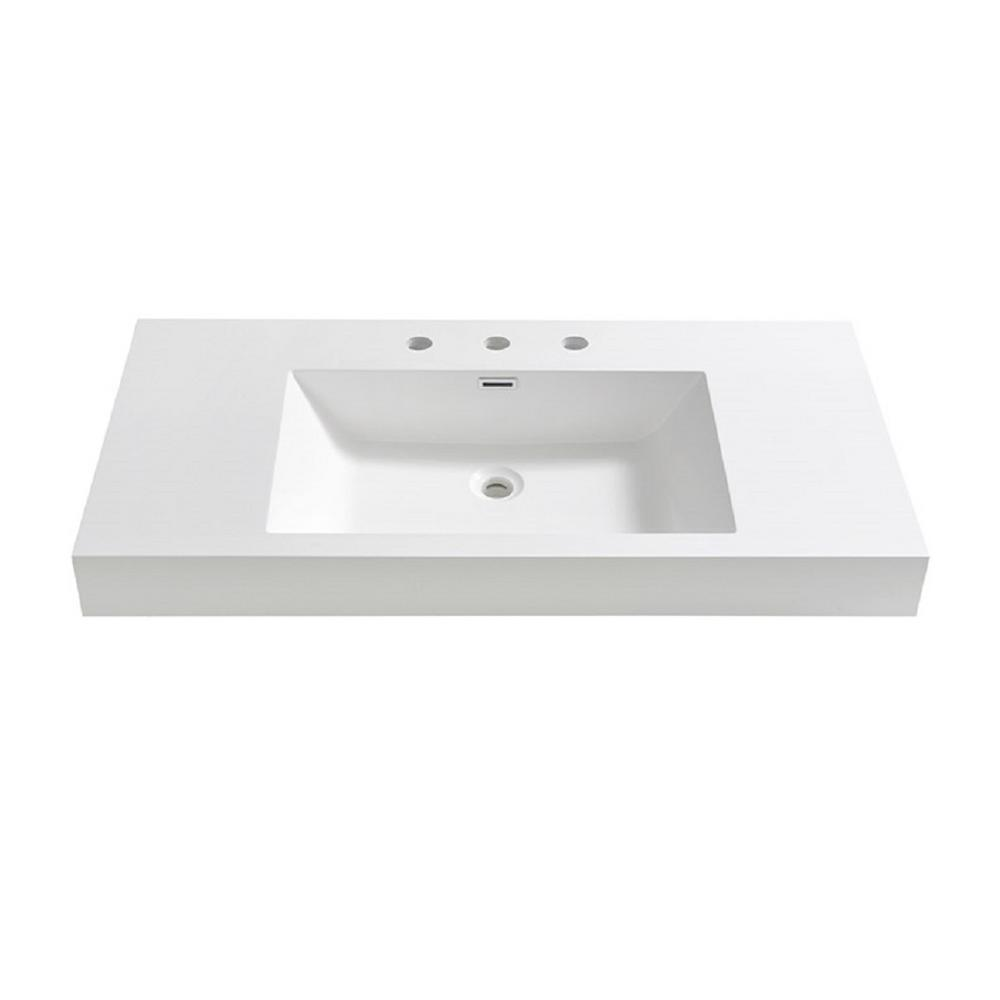 Acrylic Drop In Bathroom Sinks Bathroom Sinks The Home Depot