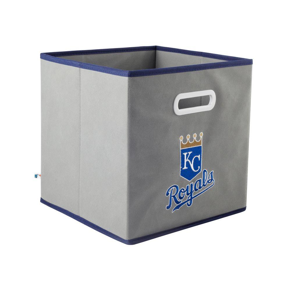 MyOwnersBox MLB STOREITS Kansas City Royals 10-1/2 in. x 10-1/2 in. x 11 in. Grey Fabric Storage Drawer