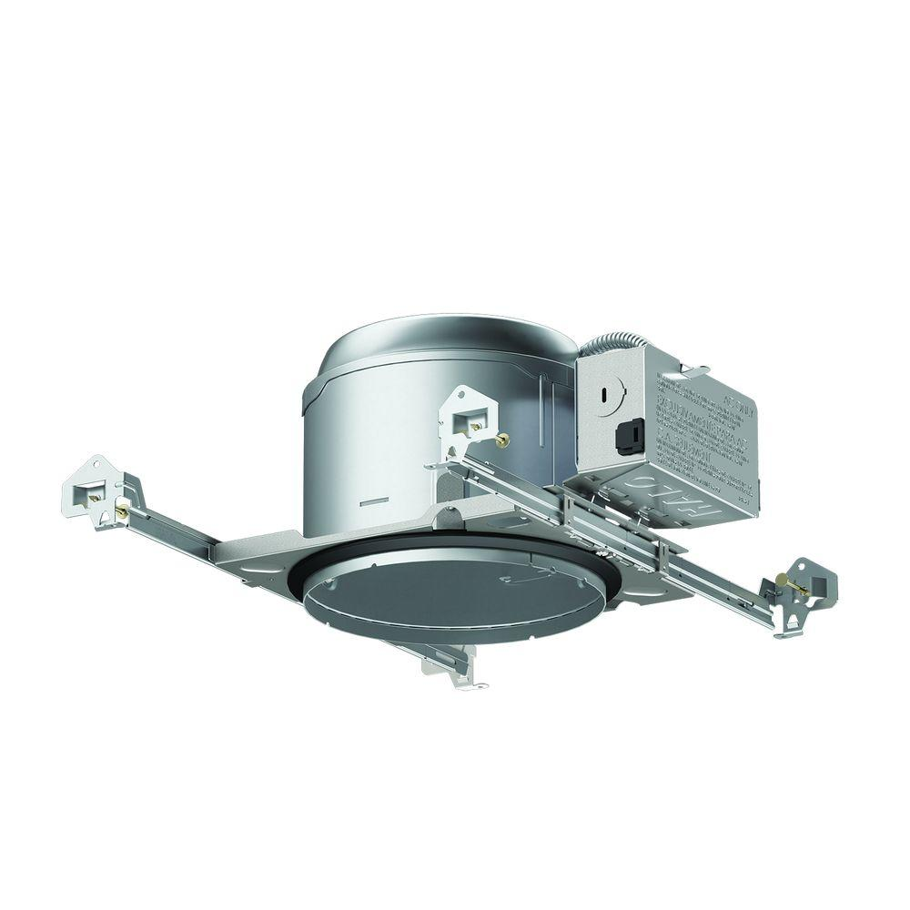Aluminum Recessed Lighting Housing for New Construction Shallow Ceiling   InsulationHalo E26 6 in  Aluminum Recessed Lighting Housing for New  . Shallow Housing Recessed Lighting. Home Design Ideas