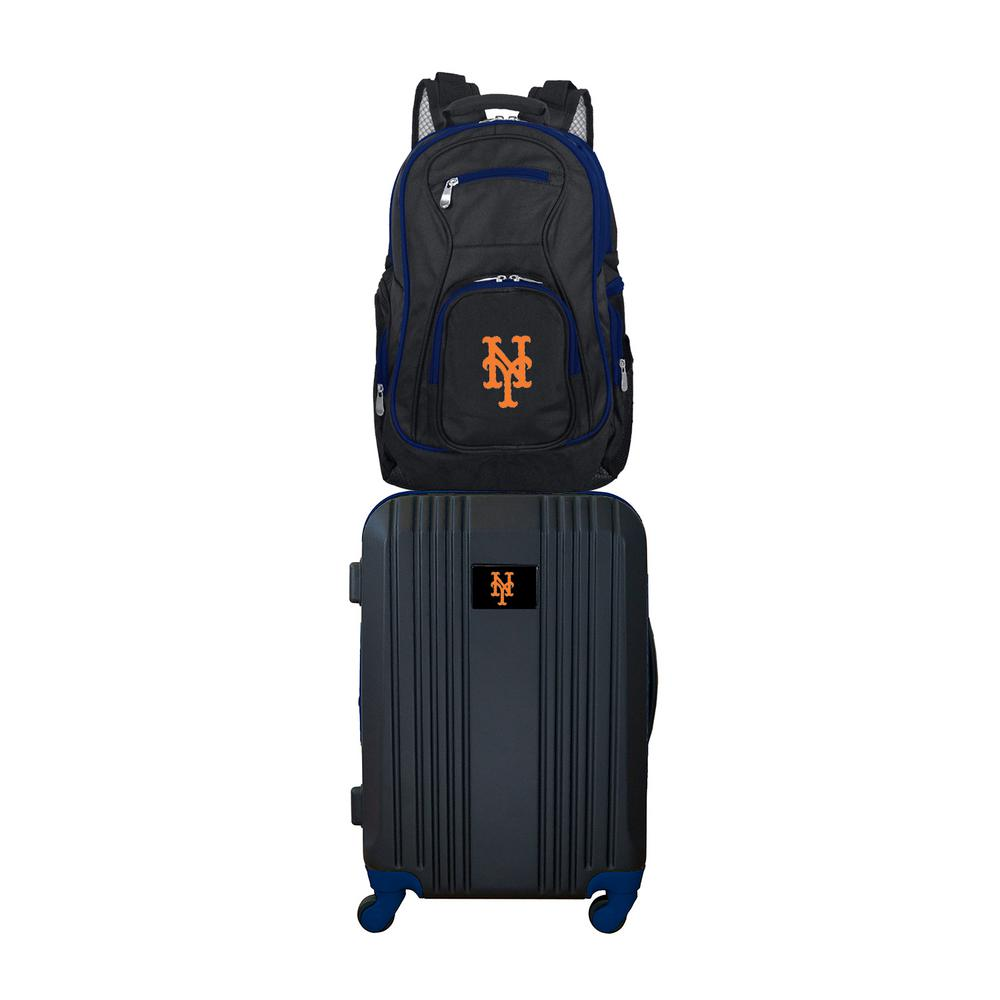 MLB New York Mets 2-Piece Set Luggage and Backpack