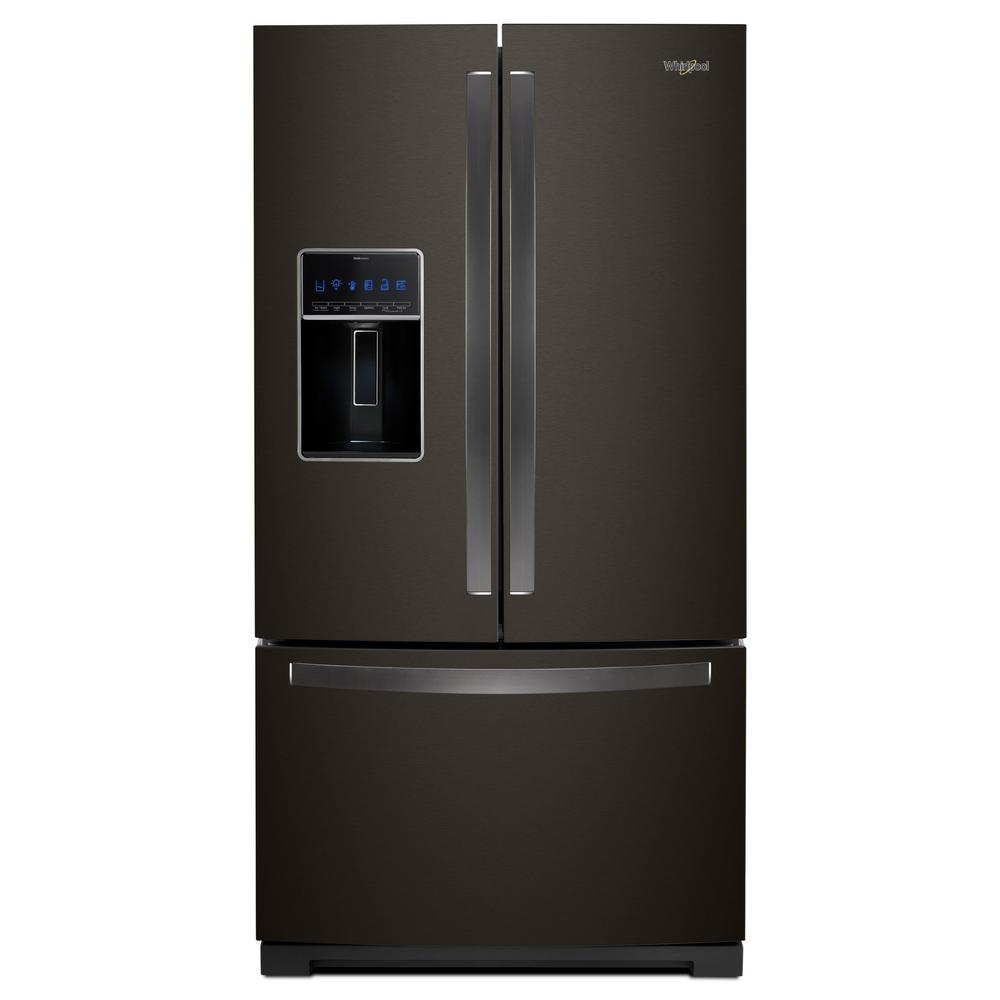 Whirlpool 27 cu. ft. French Door Refrigerator in Fingerprint Resistant Black Stainless