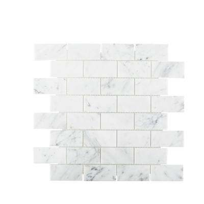 Coastal Haze 12.375 in. x 12.875 in. x 8 mm Natural Stone Mosaic Tile