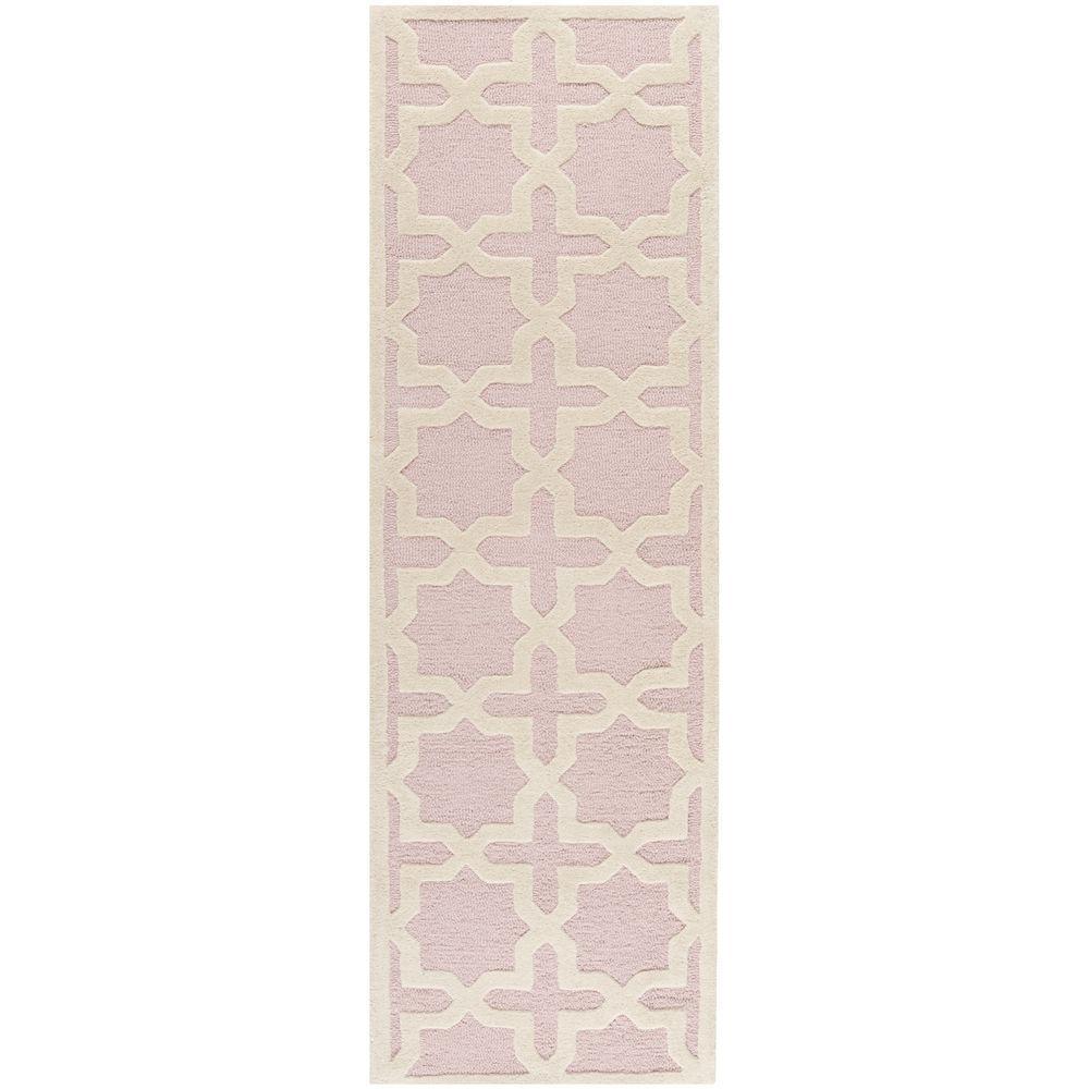 Cambridge Light Pink/Ivory 3 ft. x 10 ft. Runner Rug