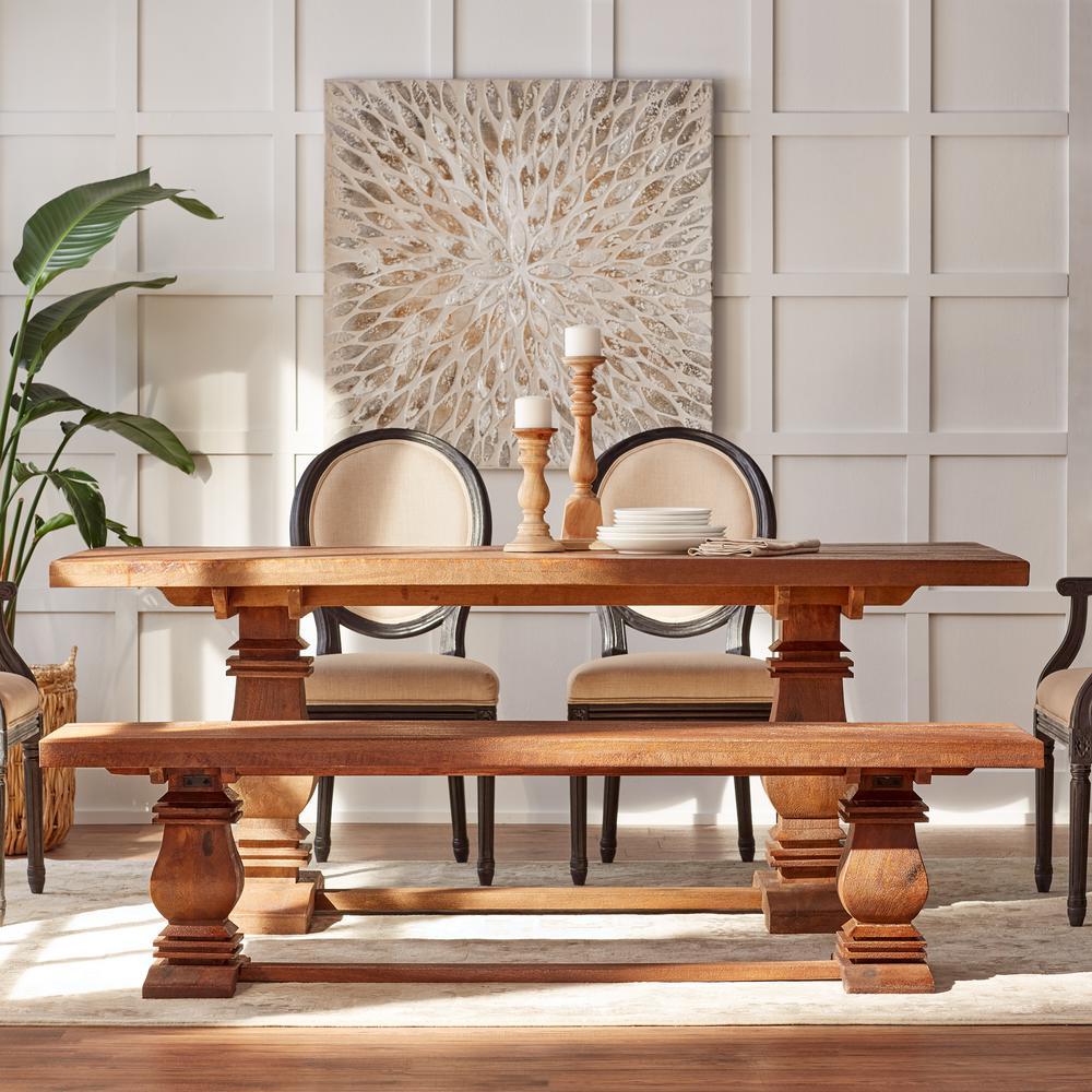 Groovy Home Decorators Collection Aldridge Antique Walnut Bench Machost Co Dining Chair Design Ideas Machostcouk