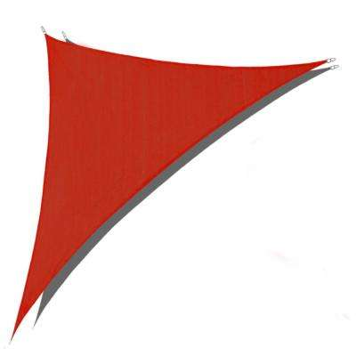 12 ft. x 12 ft. x 17 ft. Red Right Triangle Sun Shade Sail 185 GSM UV Block for Patio Deck Yard and Outdoor Activities