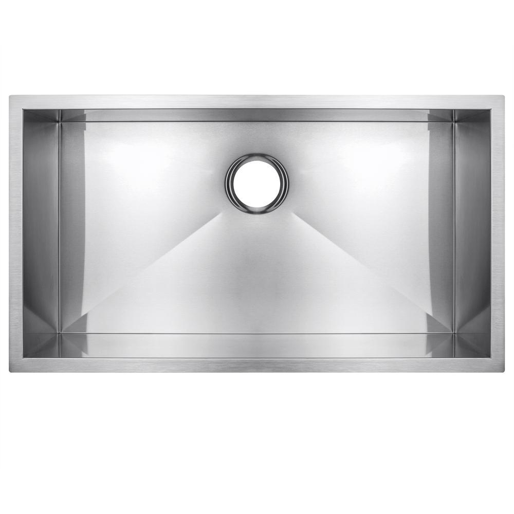 Golden Vantage Handmade Undermount Stainless Steel 30 in. x 18 in. x 9 in. Single Bowl Kitchen Sink in Brushed Finish, Brushed Stainless Steel was $259.0 now $169.99 (34.0% off)