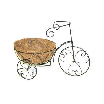 Round Heart Tricycle Plant Stand with Coco Liner