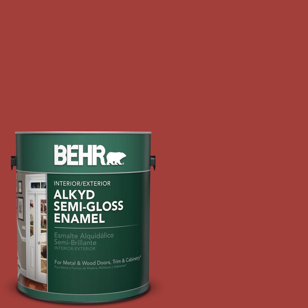 1 gal. #P140-7 No More Drama Semi-Gloss Enamel Alkyd Interior/Exterior Paint