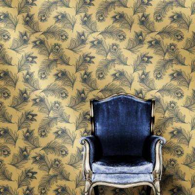 Feathers Twilight Self-Adhesive Removable Wallpaper