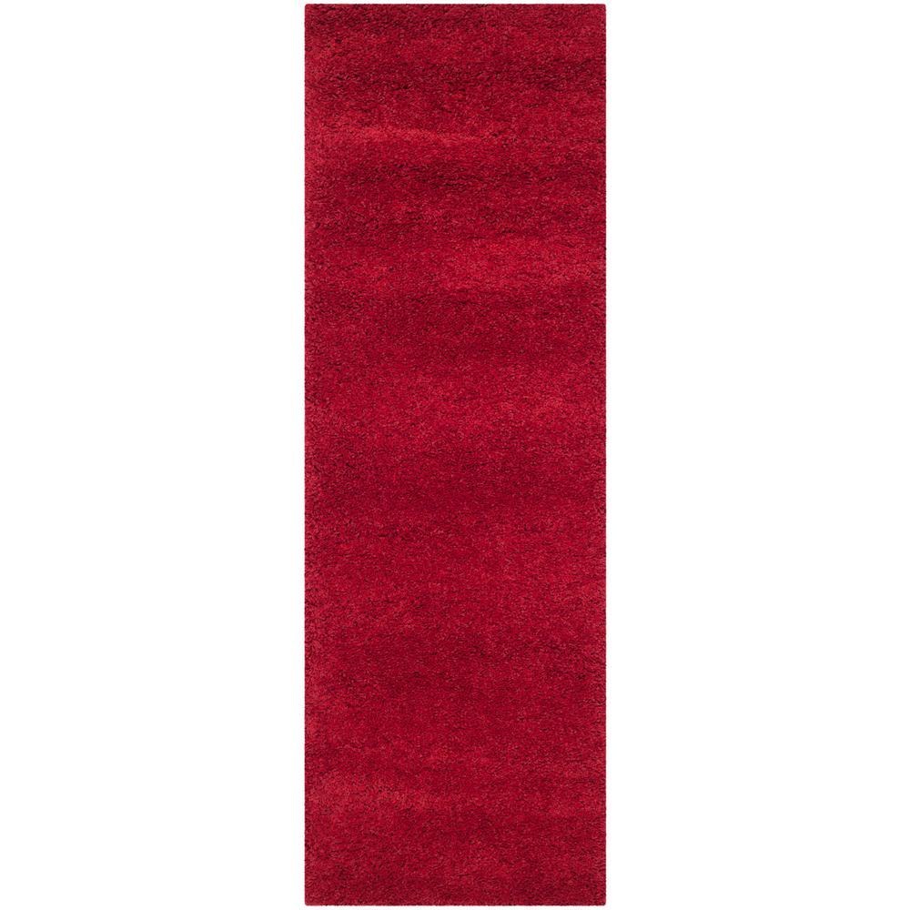 Milan Shag Red 2 ft. x 6 ft. Runner Rug