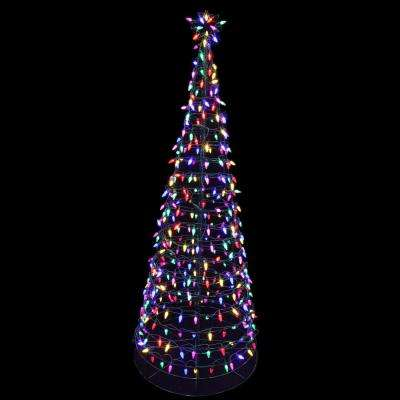 pre lit led tree sculpture with star multi colored lights - Outdoor Christmas Star Decoration