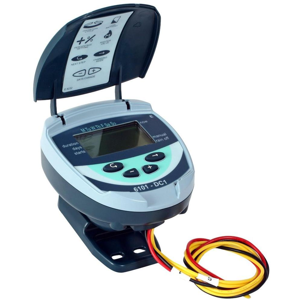 Galcon 61012 Battery Operated Waterproof Controller with 1 in. Inline Valve and DC Latching Solenoid