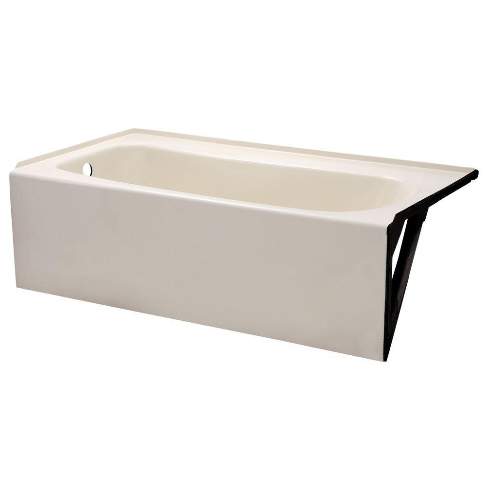 Cambridge 5 ft. x 32 in. Left Drain Soaking Bathtub in Linen
