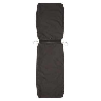 Ravenna 72 in. D x 21 in. W x 3 in. H Patio Chaise Lounge Cushion Slip Cover in Espresso
