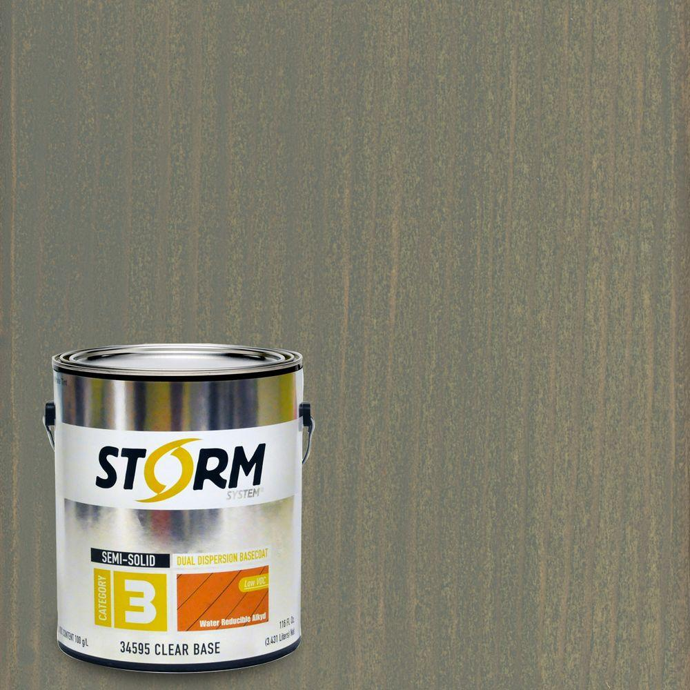 Storm System Category 3 1 gal. Bound Rock Exterior Semi-Solid Dual Dispersion Wood Finish