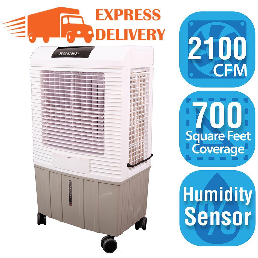 Hessaire 2,100 CFM 3-Speed Portable Evaporative Cooler (Swamp Cooler) for 700 sq. ft.