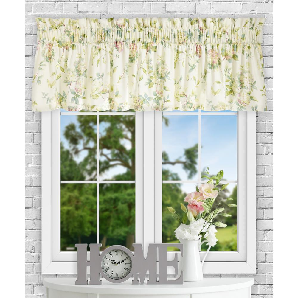 Ellis Curtain Abigail 15 in. L Polyester/Cotton Tailored Valance in Multi