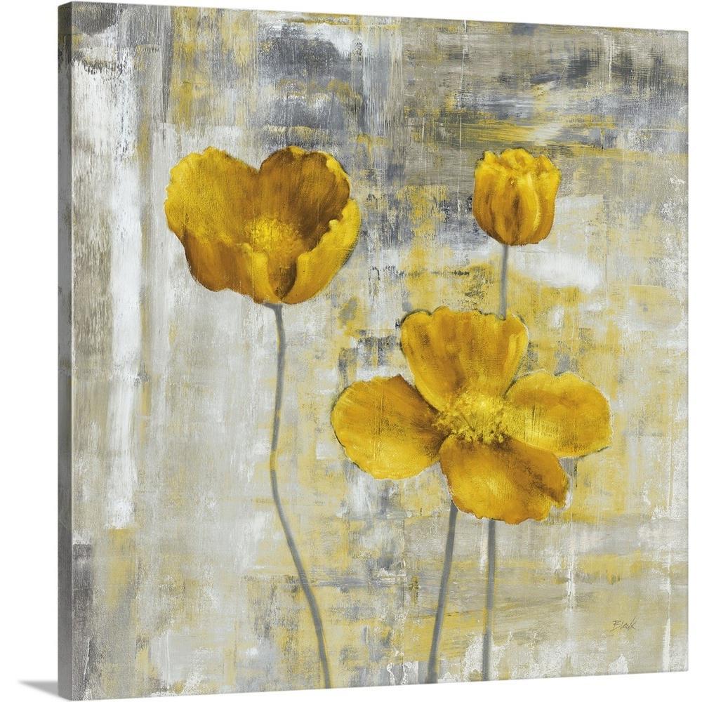 Yellow flowers ii by carol black canvas wall art