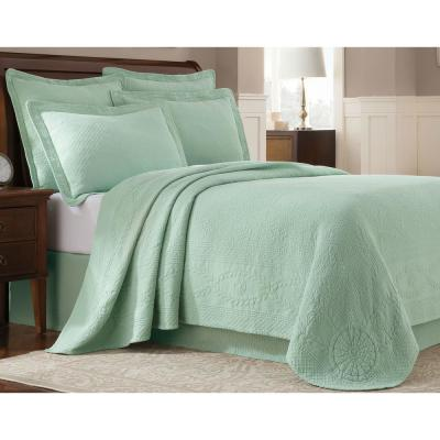 Williamsburg Abby Sage Twin Coverlet