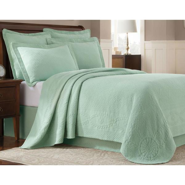 Royal Heritage Home Williamsburg Abby Sage Solid Queen Coverlet