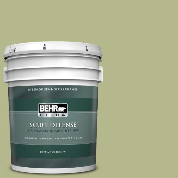 Reviews For Behr Ultra 5 Gal Home Decorators Collection Hdc Sp14 1 Secret Glade Extra Durable Semi Gloss Enamel Interior Paint Primer 375405 The Home Depot