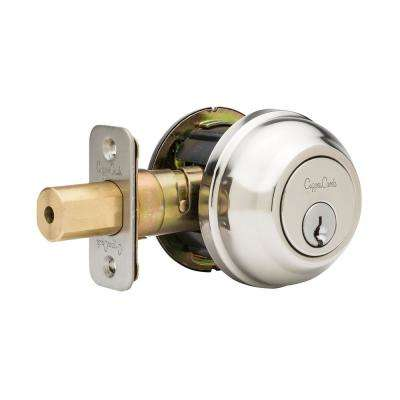 Single Cylinder Polished Stainless Grade 2 Deadbolt