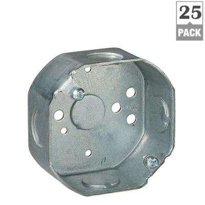 1-Gang 3-1/2 in. New Work Metal Octagon Electrical Box (Case of 25)