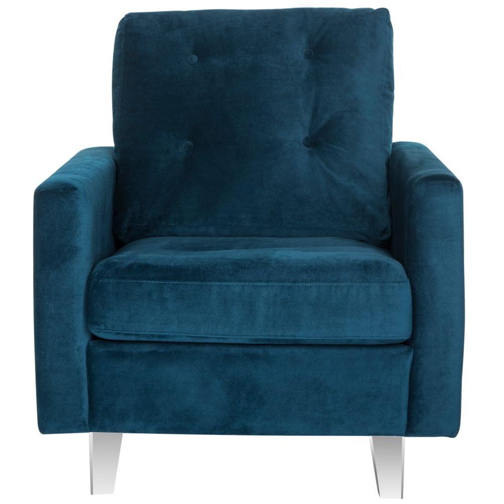 Safavieh Leandra Navy/Clear Cotton Club Arm Chair