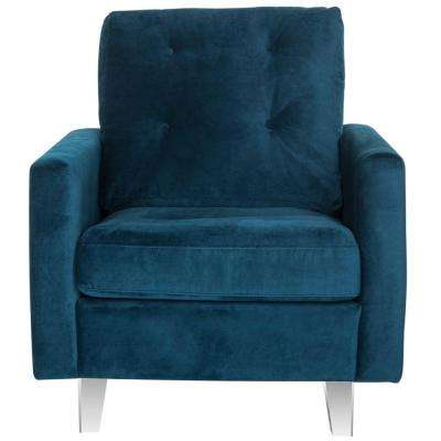 Leandra Navy/Clear Cotton Club Arm Chair