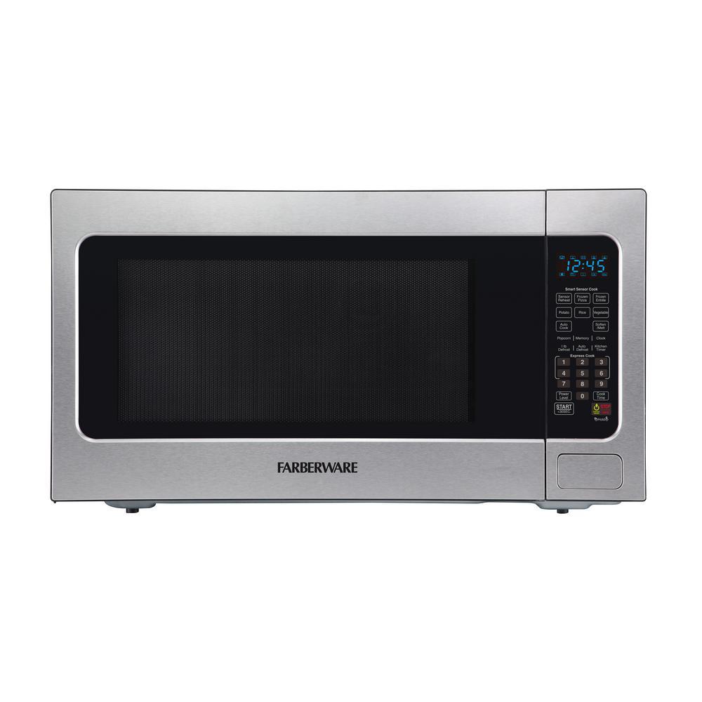 Professional 2.2 cu. ft. 1200-Watt Countertop Microwave Oven with Smart Sensor Cooking, Stainless Steel