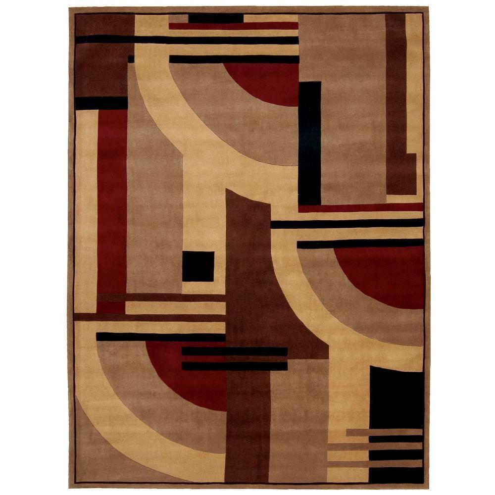 Nourison Overstock Dimensions Multicolor 8 ft. x 11 ft. Area Rug