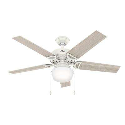 Viola 52 in. LED Indoor Fresh White Ceiling Fan with Light Kit
