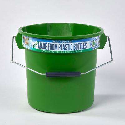 3.5 Gal. Green Round 14 Qt. Utility ECO Bucket 100% Made from Recycled Water Bottles