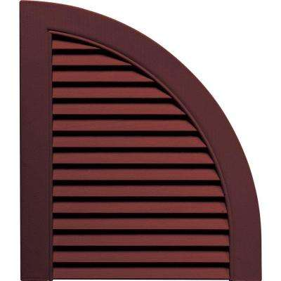 15 in. x 17 in. Louvered Design Bordeaux Quarter Round Tops Pair #167