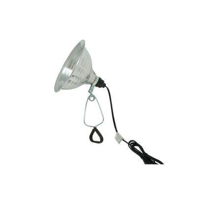 150-Watt 6 ft. 18/2 SPT-2 Incandescent Portable Clamp Work Light with 8.5 in. Reflector