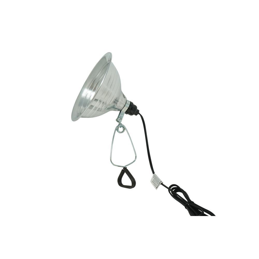 Woods 150-Watt 6 ft. 18/2 SPT-2 Incandescent Portable Clamp Work Light with 8.5 in. Reflector