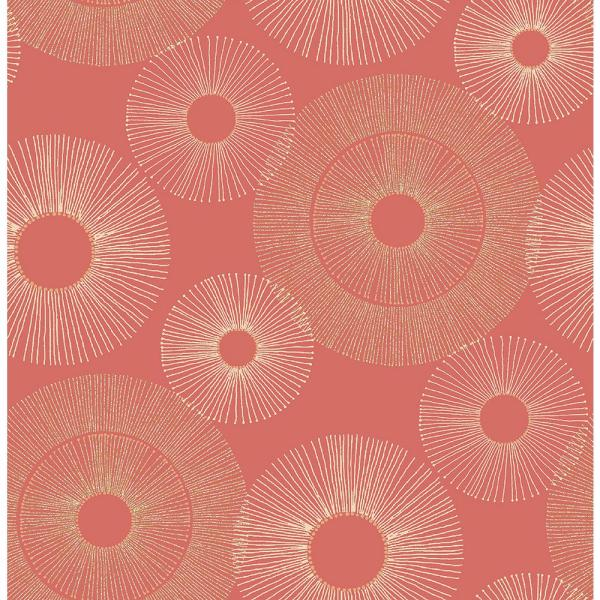 Kenneth James Eternity Coral Geometric Wallpaper Sample