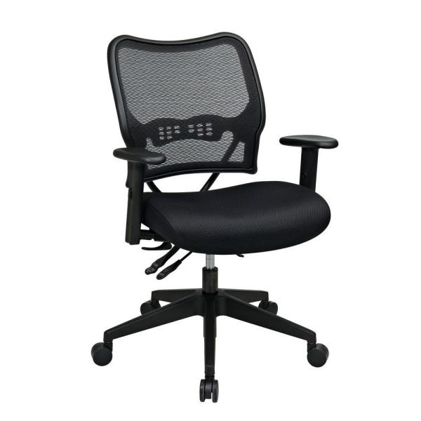 Office Star Products Deluxe Black AirGrid Back Office Chair