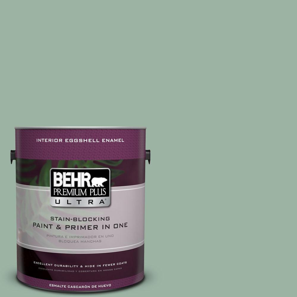 BEHR Premium Plus Ultra 1-gal. #S410-4 Copper Patina Eggshell Enamel Interior Paint