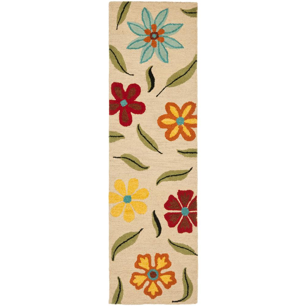 Blossom Beige/Multi 2 ft. 6 in. x 10 ft. Runner