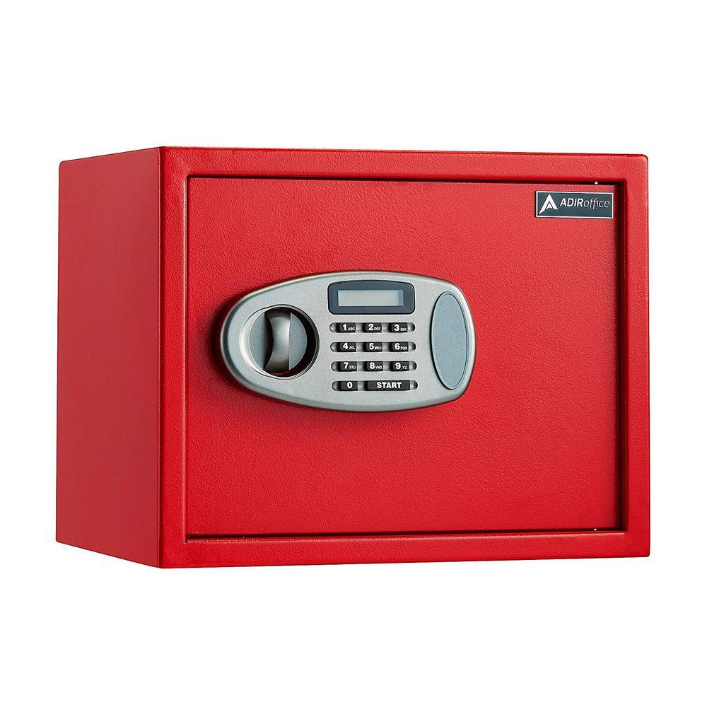 1.25 cu. ft. Steel Security Safe with Digital Lock, Red