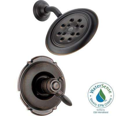 Victorian 1-Handle Shower Faucet Trim Kit in Venetian Bronze with H2Okinetic (Valve Not Included)