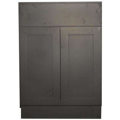 Black Satin Shaker Ii Ready To Emble 27x34 5x24 In 2 Door 1