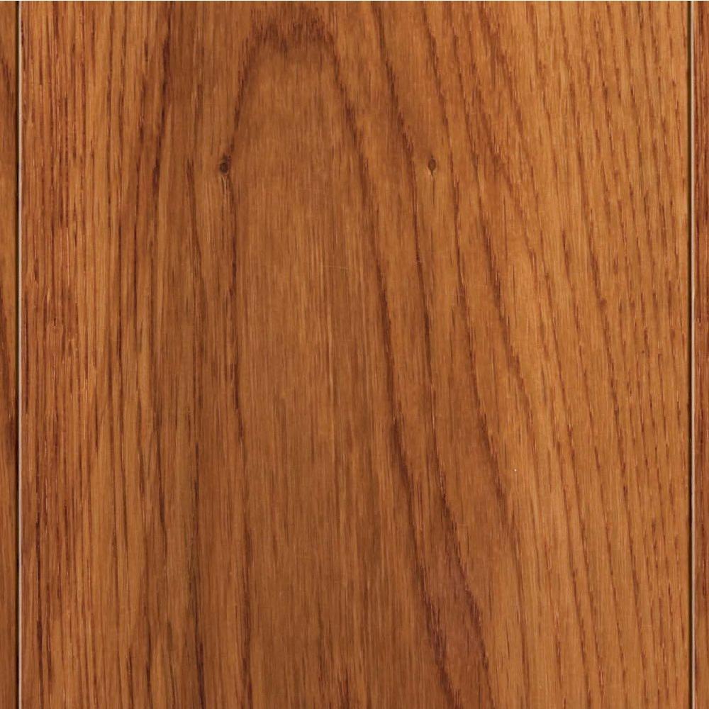 Home Legend Take Home Sample - High Gloss Oak Gunstock Solid Hardwood Flooring - 5 in. x 7 in.