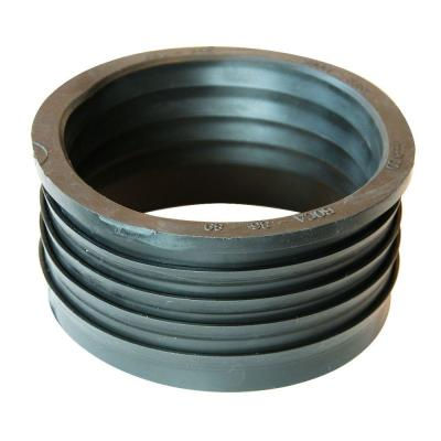 4 in. Service Weight Cast Iron Hub x 4 in. Sch. 40 PVC Compression Coupling